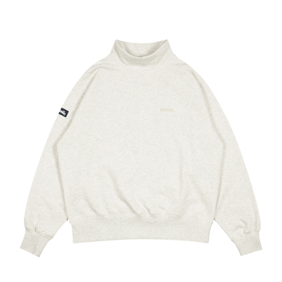 Small Logo Mock Neck Sweatshirt (oatmeal)