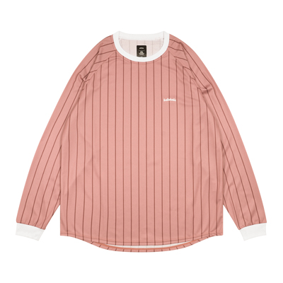 Logo Stripe Cool Long Tee (dusty rose/burgundy)