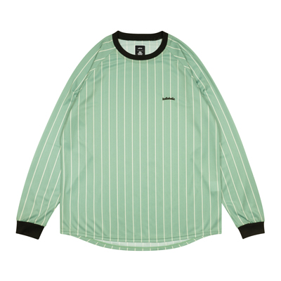 Logo Stripe Cool Long Tee (pale green/off white)
