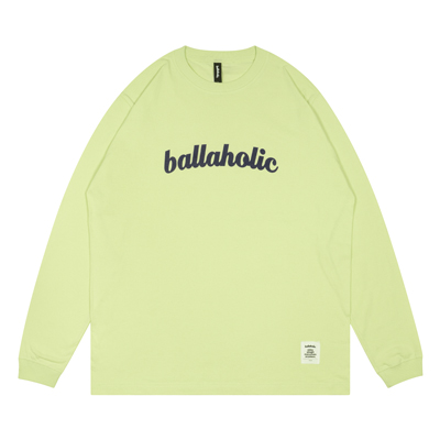 Logo Long Tee (milky lime/dark navy)