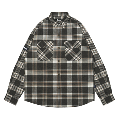 Logo Flannel Check Shirt (charcoal)