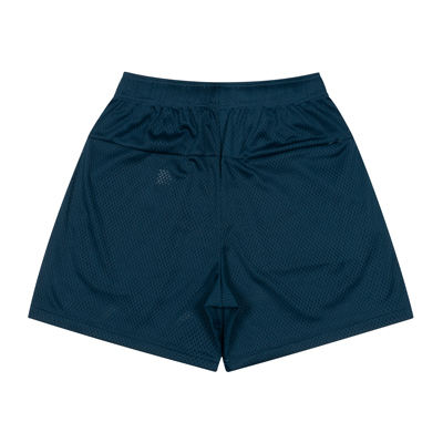 College Logo Mesh Zip Shorts (navy)